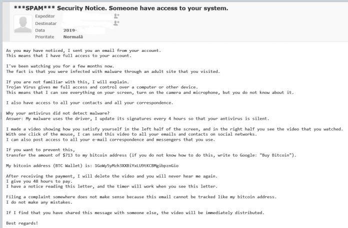 Fraudă prin intermediul e-mailului