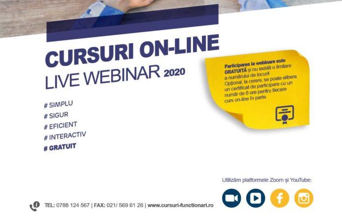 Participa GRATUIT la cursurile on-line organizate de APSAP